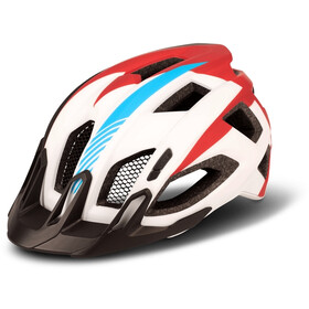 Cube Quest Teamline Helm, white/blue/red